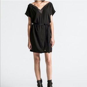 Diesel Dresses - Diesel black asymmetrical zip dress! Like new!